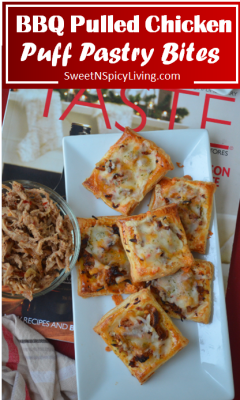 BBQ Pulled Chicken Puff Pastry Bites