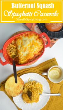 Butternut Squash Spaghetti Casserole