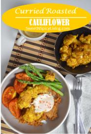 Curried Roasted Cauliflower