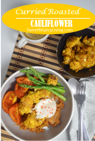 Curried Roasted Cauliflower