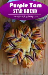 Purple Yam Star Bread 2