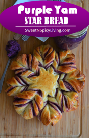 Purple Yam Star Bread 2