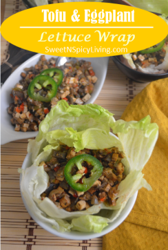 Tofu and Eggplant Lettuce Wrap