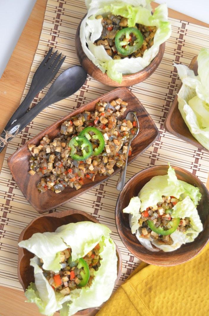 Vegetarian Lettuce Wrap