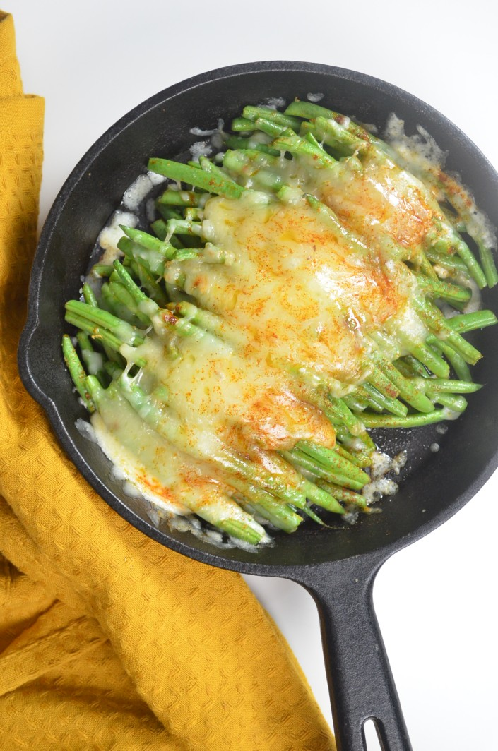 Baked Cheesy Roasted Green Beans