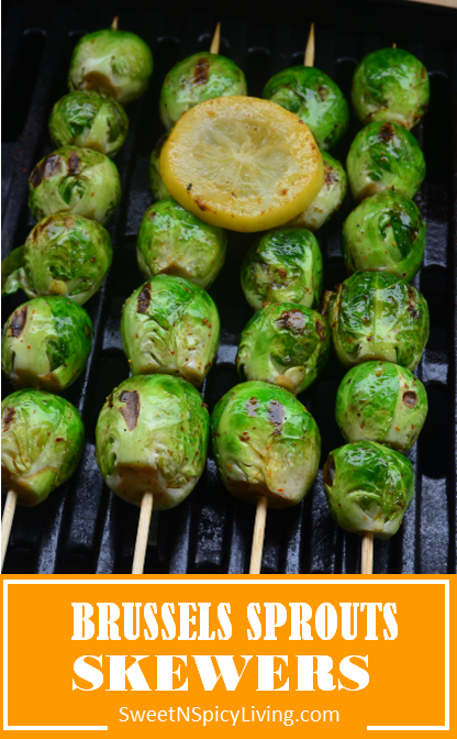 Grilled Brussels Sprouts Skewers