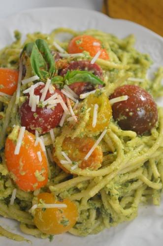 Creamy Avocado Spaghetti Pasta