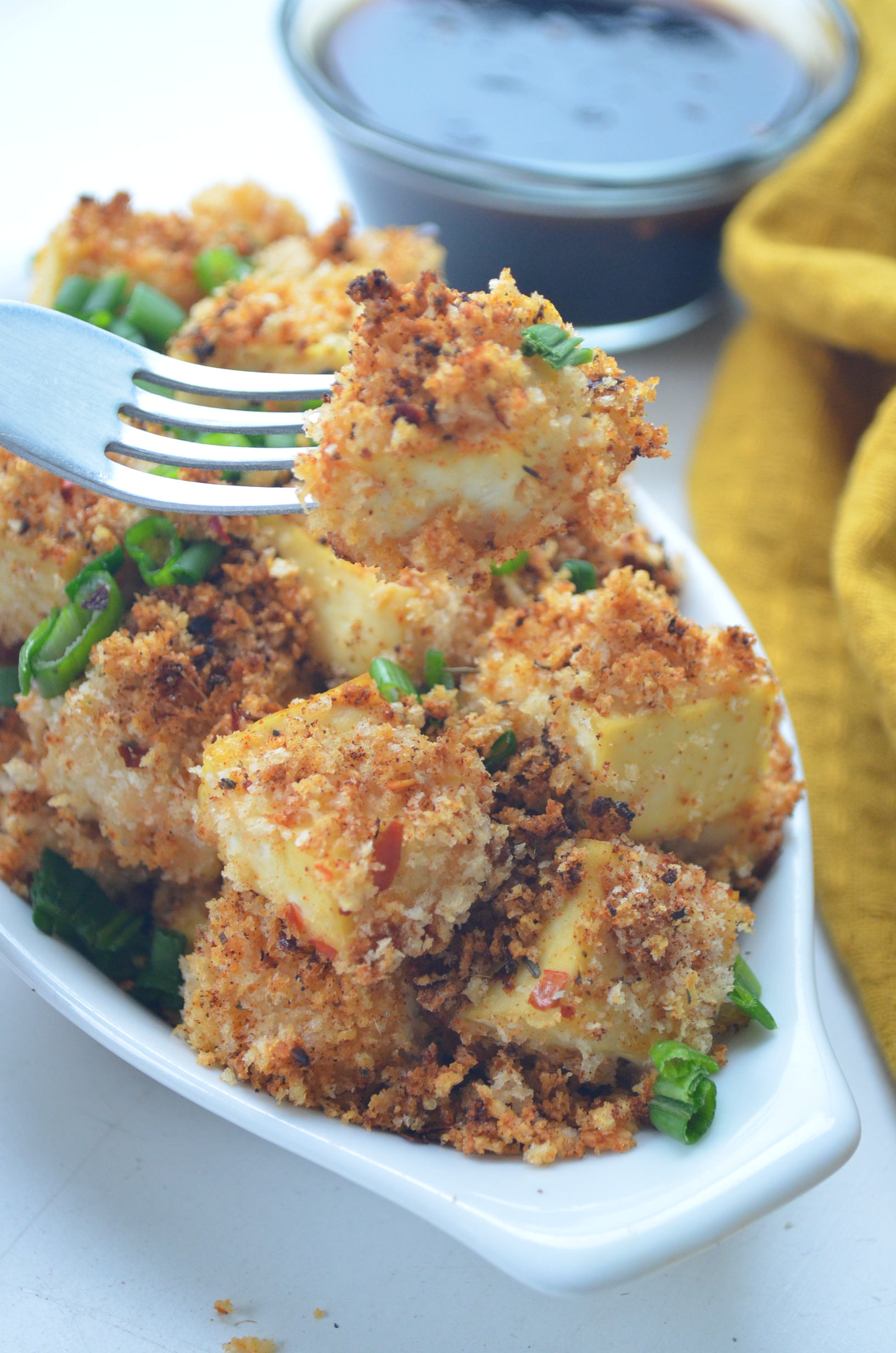 Crispy Panko Crusted Tofu