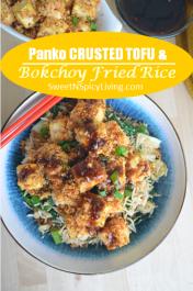 Panko Crusted Tofu Rice Bowl