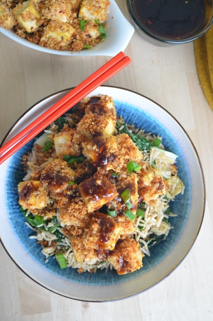 Tofu Teriyaki Rice Bowl