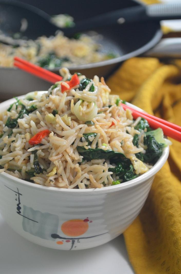Vegetarian Bokchoy Basil Rice