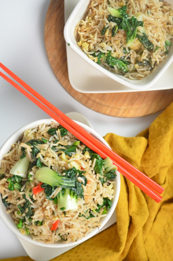 Vegetarian Bokchoy Rice