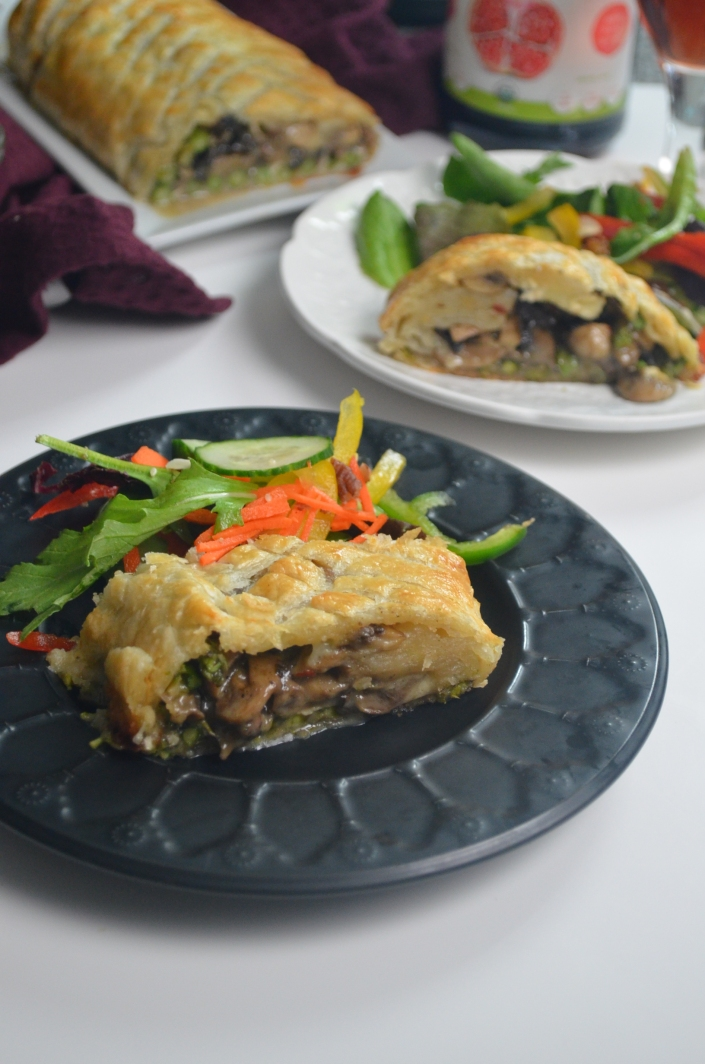 Mushroom and Caramelized Onion Wellington