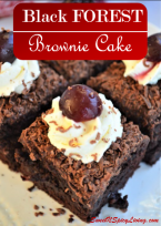 Black Forest Brownie Cake