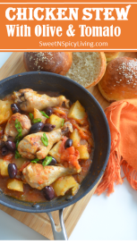 Chicken Stew with Olives and Tomato