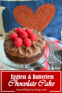 Eggless and Butterless Chocolate Cake
