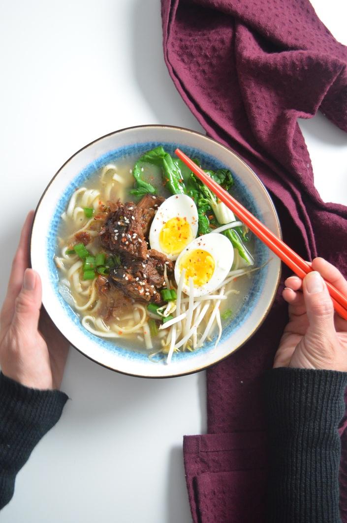 braised short rib beef noodles