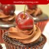 chocolate cupcake with chocolateganache