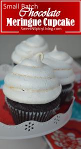 chocolate merigue cupcake