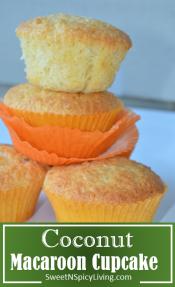 cococnut macaroon cupcake