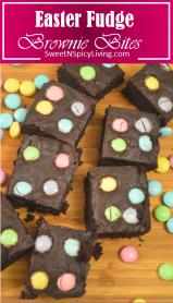 easter fudge brownie bites