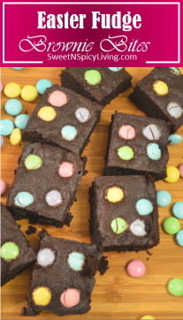easter fudge brownie bites