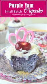purple yam cupcake