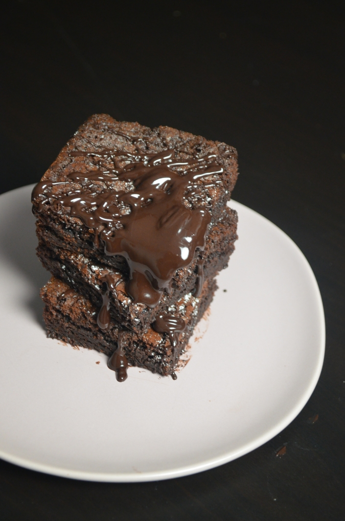 small batch cocoa brownie