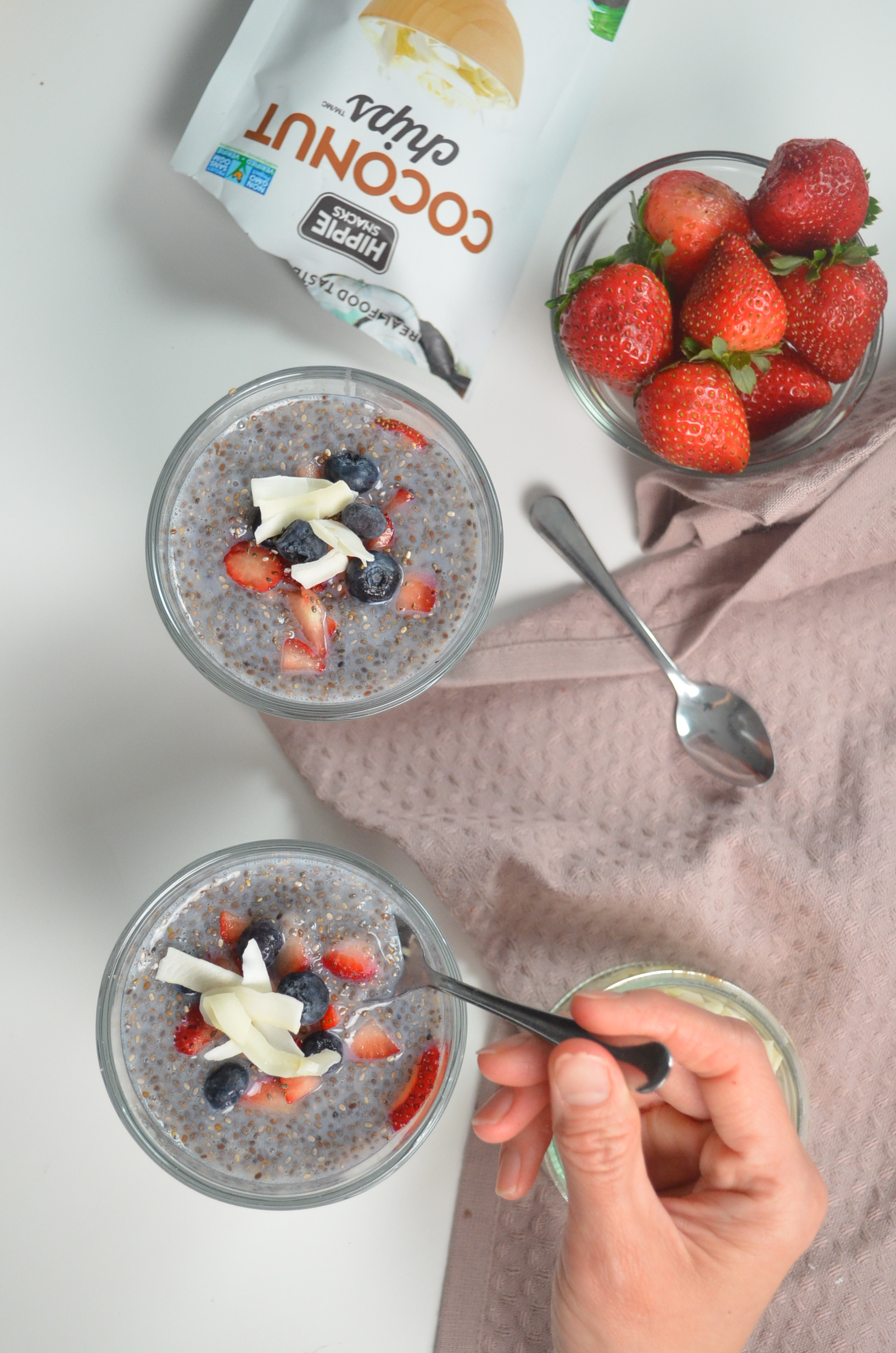 small batch strawberry chai seed pudding by sweetnspicylivin