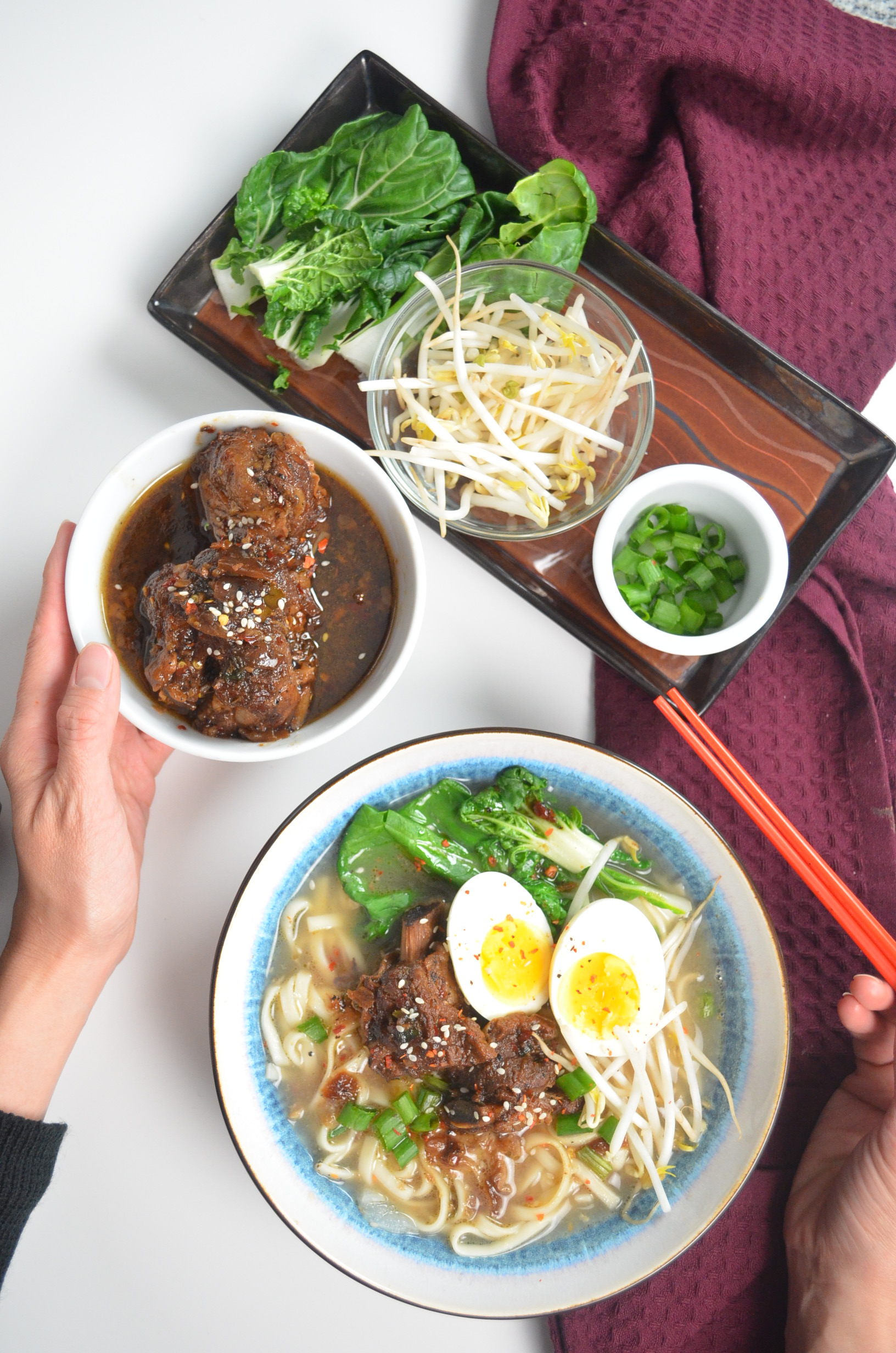 spicy braised short ribs beef noodles