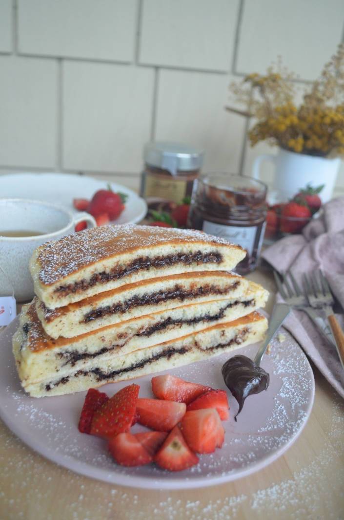 stuffed nutella pancake