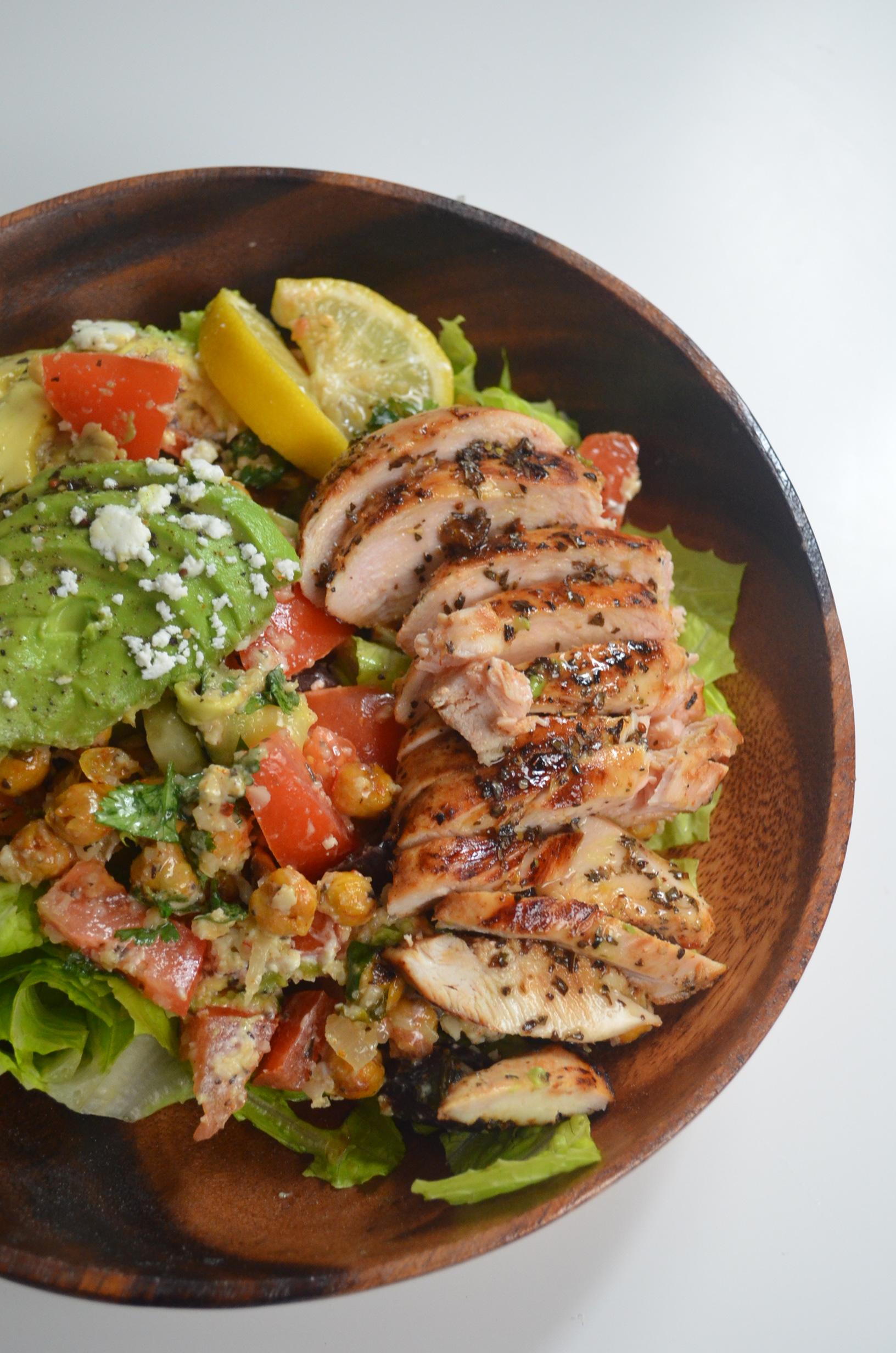 Chickpeas Chicken Salad