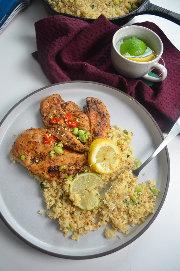 Cilantro and Lime Cauliflower Fried Rice By SweetNSpicyLiving