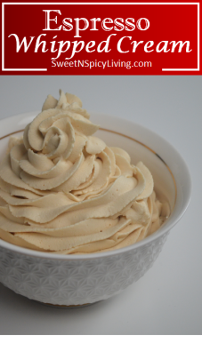 Espresso Whipped Cream Frosting