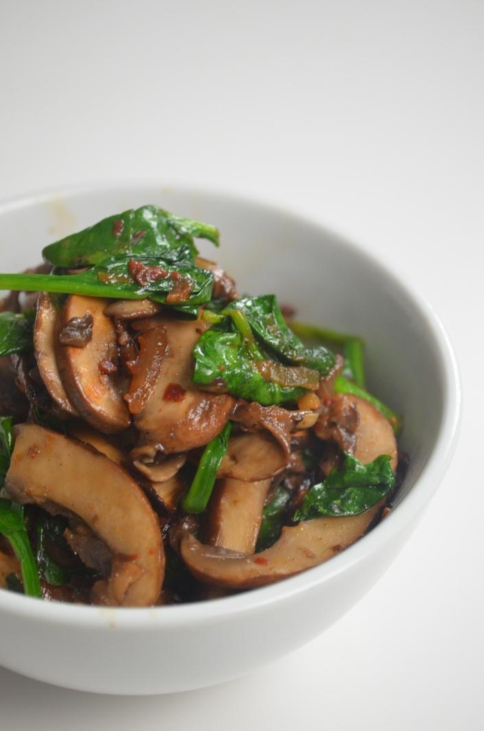 Healthy Spinach Mushroom