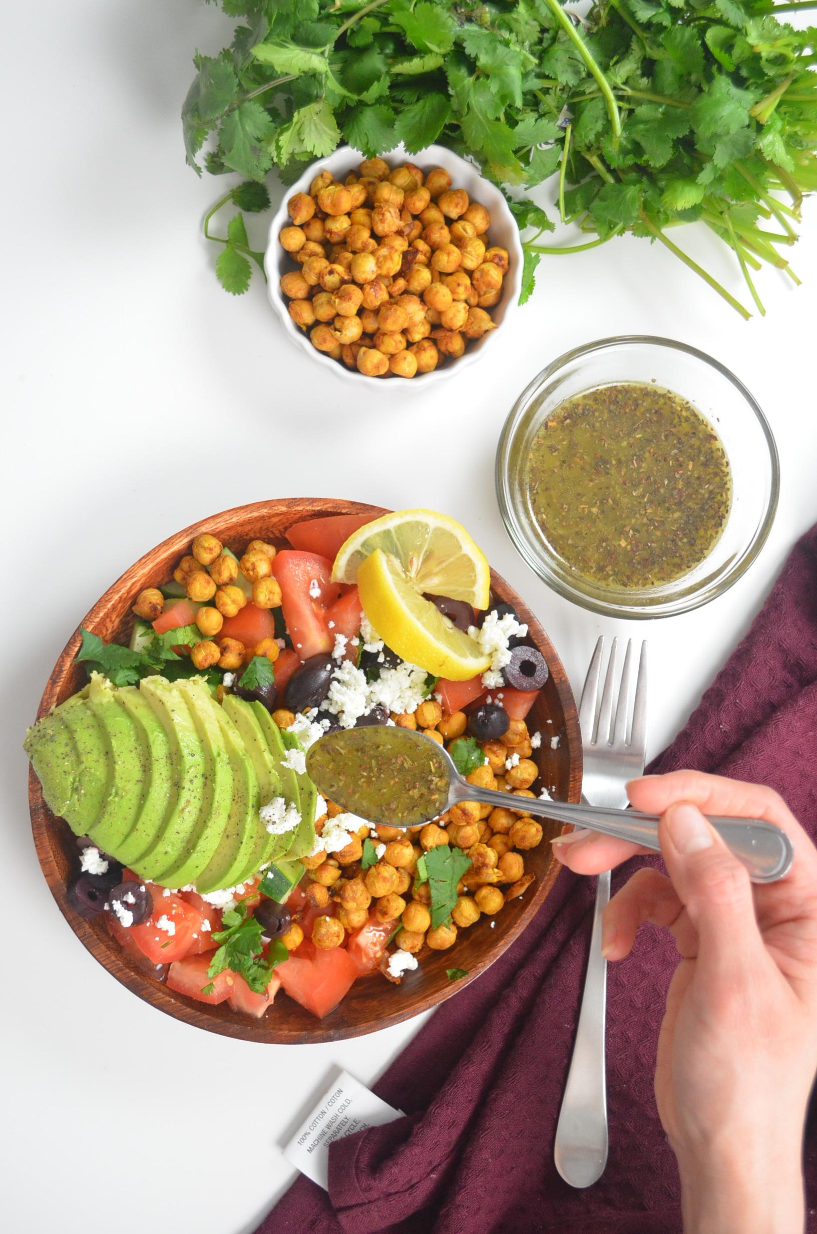 Mediterranean Chickpeas Salad By SweetnSpicyLiving