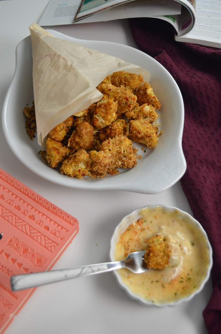 Oven Baked Parmesan Cauliflower Popcorn By SweetNSpicyLiving