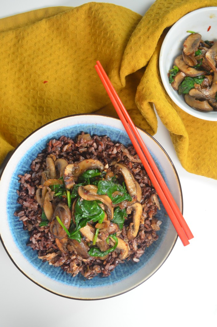 Sauteed Mushroom and Spinach By SweetNSpicyLiving