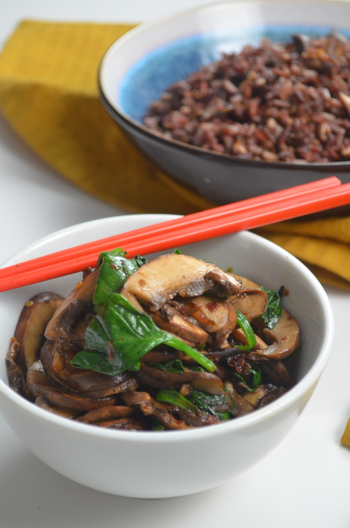 Sauteed Mushroom and Spinach