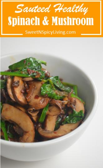 Sauteed Spinach and Mushroom 2