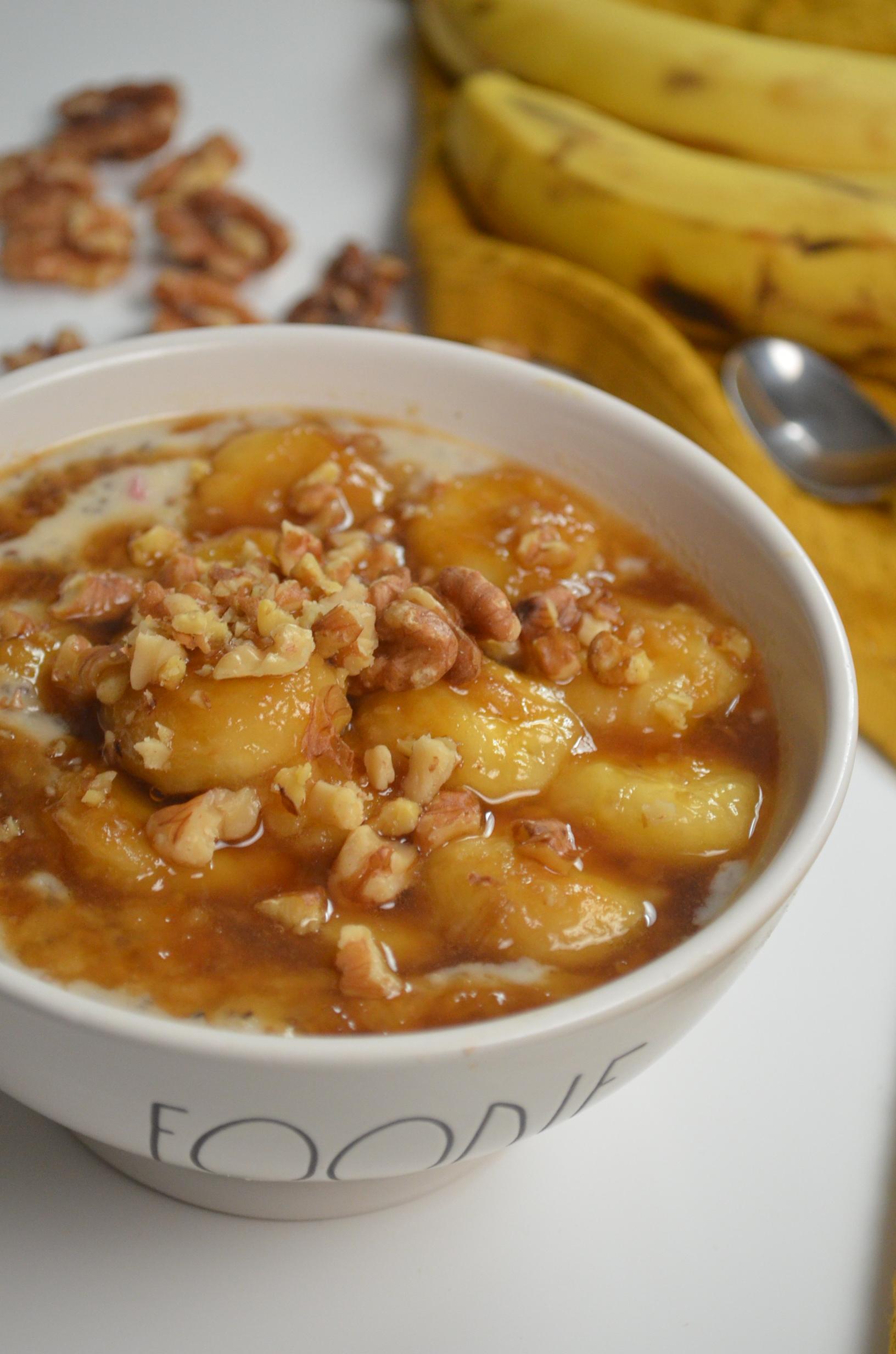 Single Serving Caramelized Banana Oatmeal
