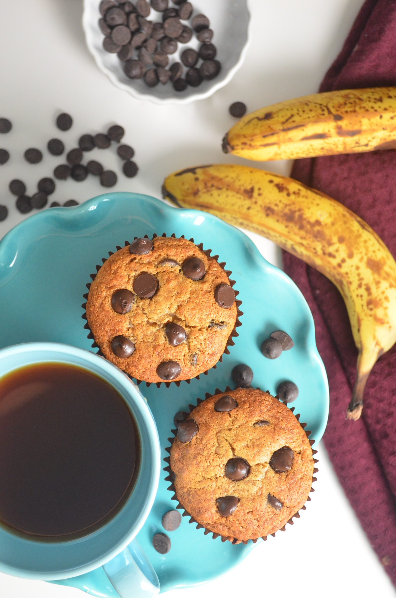 Small Batch Banana Chocolate Chip Muffin