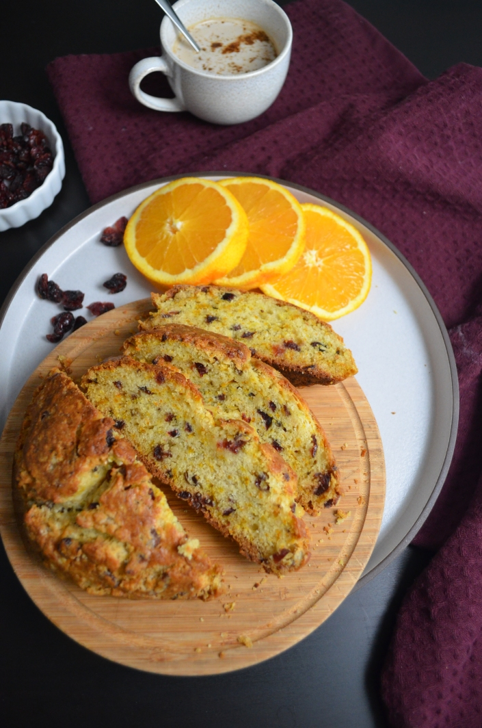 Small Batch Orange Cranberry Irish Soda Bread