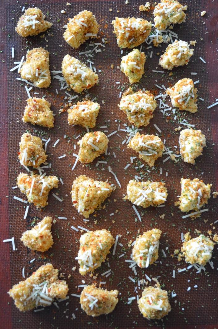 Small Batch Panko Custed Parmesan Cauliflowe Popcorn