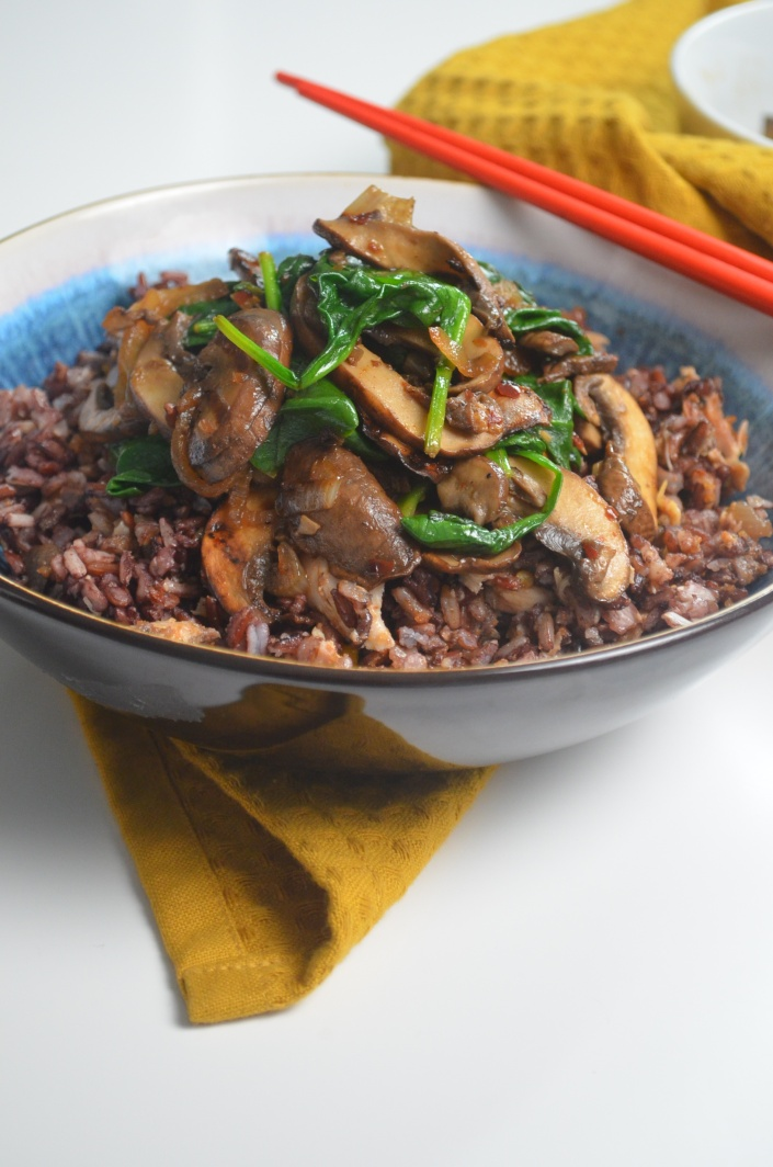 Small Batch Sauteed Mushroom and Spinach By SweetNSpicyLiving