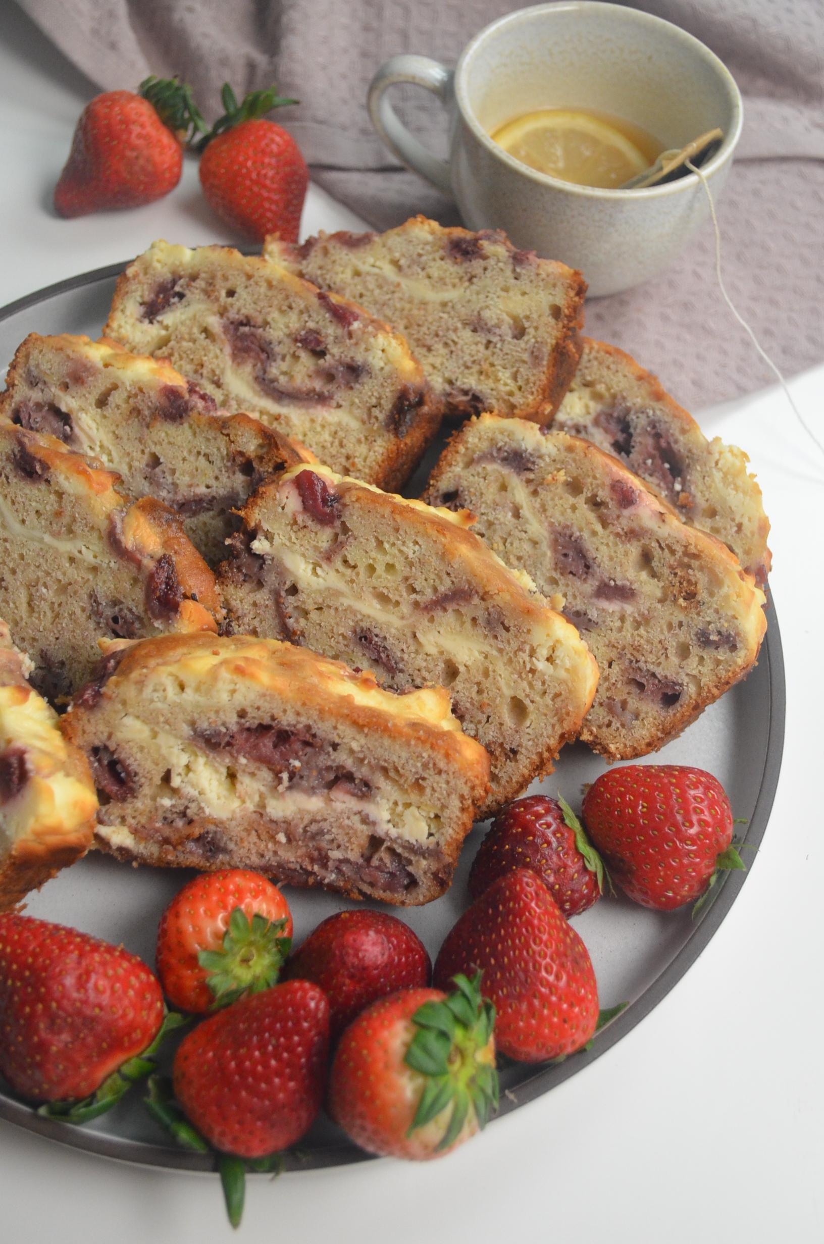 Strawberry Cream Cheese Banana Bread