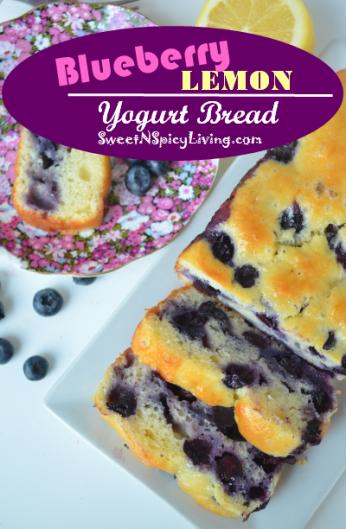 Blueberry Lemon Yogurt Bread