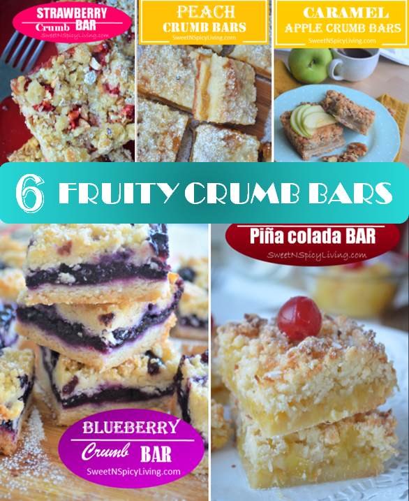 Fruit Crumb Bar Collage