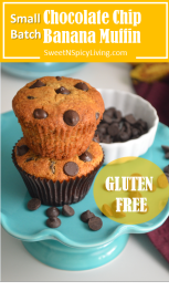 Gluten Free Chocolate Chip Banana Muffin