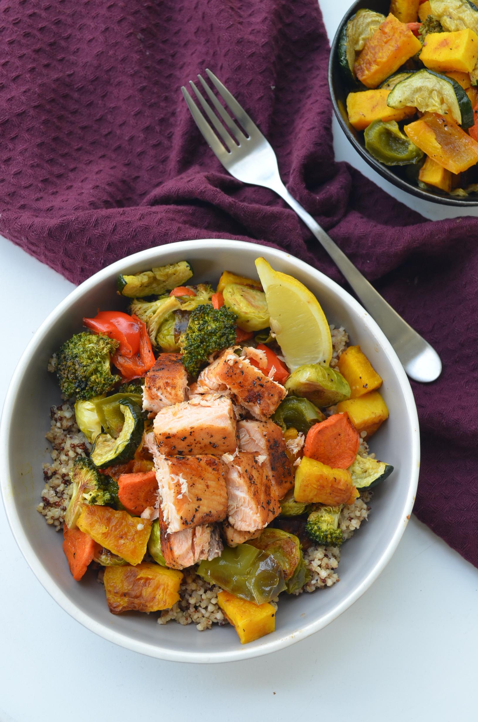 Quinoa and Salmon Bowl